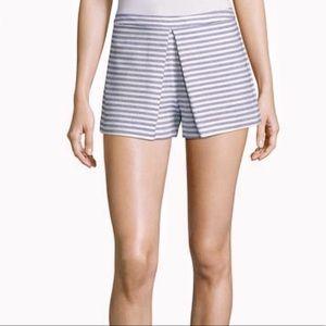 BCBG Generation Striped Pleated Shorts